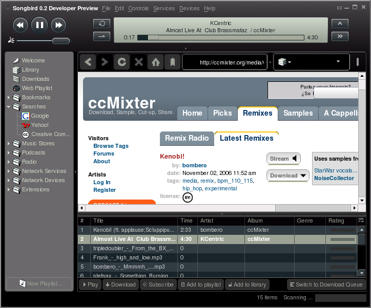 Media players and access to CC licensed music - Creative Commons