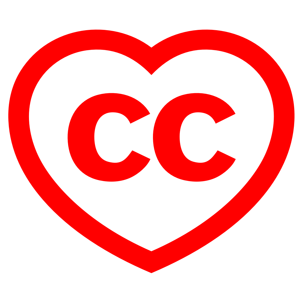 red creative commons heart